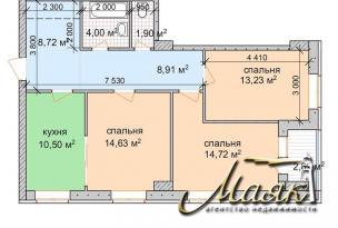 3-х комнатная квартира в экологически чистом районе Пески.
