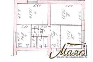 Продается 3 комн. квартира (80 м²) в г. Запорожье