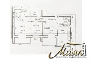 Трёхкомнатная квартира в ЖК «Александровский 2».