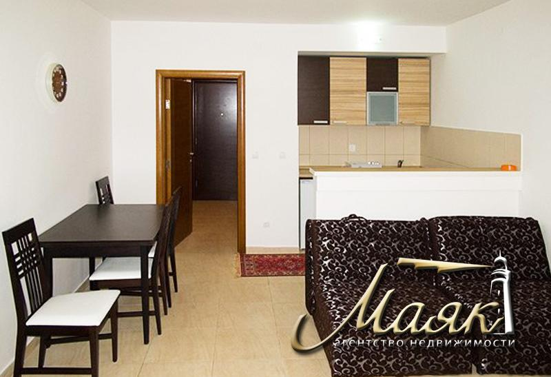 Уютная квартира-студия  с отдельной прихожей, большой гостиной, кухней, ванной комнатой и французским балконом, который может быть модернизирован под террасу