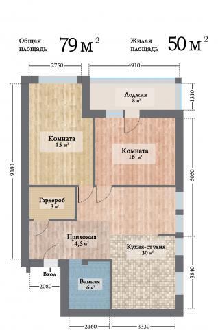 ЖК Ренессанс двухкомнатная квартира