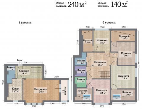ЖК Ренессанс двухуровневая квартира